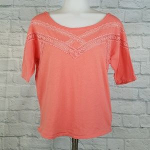 Free People XS Top Orange Lace